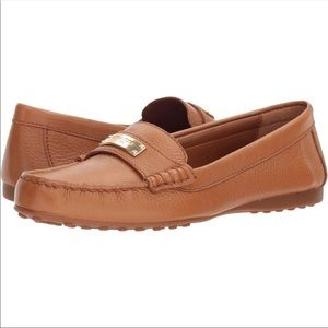 Coach Fredrica Pebbled Leather Loafer Moccasin